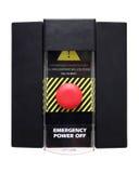 Poderes de emergência fora ou tecla de pânico - isolada Fotografia de Stock