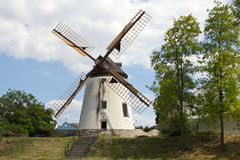 Podersdorf, ανεμόμυλος Στοκ Εικόνες