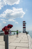 Podersdorf Lighthouse stock photos