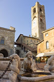 podesta för bergamo delitaly palazzo Royaltyfri Fotografi