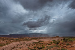 Podeszczowa burza nad Pustynnym Utah krajobrazem Obraz Stock
