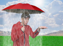 podeszczowa prysznic Fotografia Royalty Free