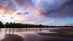 Podeszczowe chmury, deszczów początki Czasu upływ zbiory