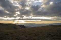 Podeszczowe chmury nad plateau Fotografia Stock
