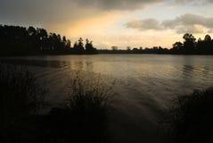 Podeszczowy jezioro Obraz Royalty Free