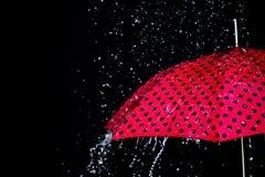 Podeszczowy opadowy parasol odizolowywający Obraz Stock