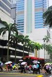 podeszczowy Singapore Obrazy Stock