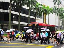 podeszczowy Singapore Obrazy Royalty Free