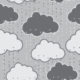 Podeszczowych chmur tła wektorowy bezszwowy abstrakt Zdjęcia Royalty Free