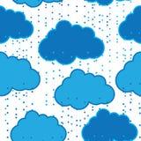 Podeszczowych chmur tła wektorowy bezszwowy abstrakt Obrazy Stock