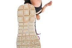 Podeszwa trenuje buty atletyka Fotografia Royalty Free
