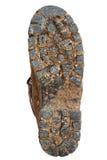 podeszwy błotnistej but wędrownej Zdjęcia Royalty Free