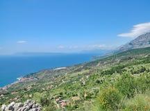 Podgora, αδριατική θάλασσα, Makarska Riviera, Κροατία Στοκ Εικόνα