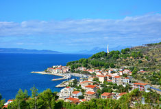 Podgora  azure view Royalty Free Stock Images