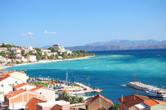 gorgeous azure scenic view on podgora in croatia Royalty Free Stock Images