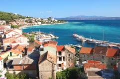 Gorgeous azure scenic view on podgora in croatia Royalty Free Stock Photos