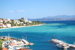 Gorgeous azure scenic view on podgora in croatia Stock Images