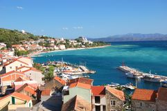 Gorgeous azure scenic view on podgora in croatia Stock Photo