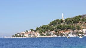 Podgora;. Monument by the sea Podgora Royalty Free Stock Photo