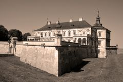 Podgoretsky城堡 免版税库存照片