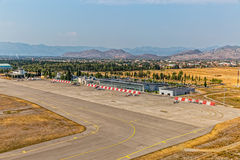 Podgorica airport aerial Stock Images