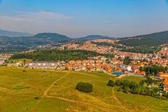 Podgorica luchtmening Stock Foto's