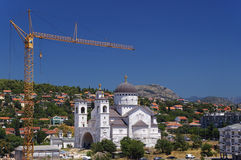 Podgorica, Montenegro. New orthodox church, Podgorica, Montenegro Stock Photography