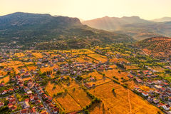 Podgorica suburb aerial view Stock Photography