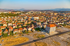 Podgorica-Vogelperspektive Stockbild