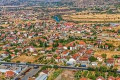 Podgorica widok z lotu ptaka Obraz Royalty Free
