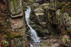 Podgorna Waterfall in Poland Stock Photo