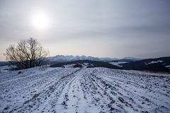 Podhale en hiver Image libre de droits