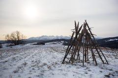 Podhale en hiver Images stock