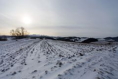 Podhale en hiver Image stock