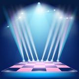 Podiów światła reflektorów i floodlights ilustracji