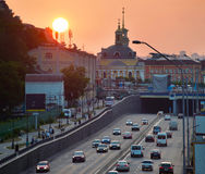Podil district. Kiev, Ukraine Stock Images