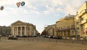 Podil jest historycznym okręgiem Kyiv Kyiv opera i Baletniczy teatr dla dzieci i młodości Kyiv, Ukraina zdjęcia royalty free
