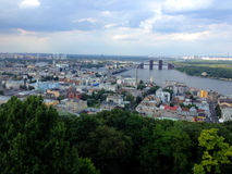 Podil, Kyiv, Ukraine. View to Podil – oldest part of Kyiv , the capital of Ukraine Stock Image