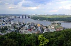 Podil, Kyiv, Ukraine. View to Podil – oldest part of Kyiv , the capital of Ukraine Stock Photo