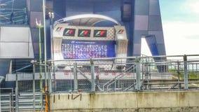 Podio di Silverstone Immagine Stock