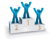 The podium. The winners in a podium Royalty Free Stock Photos