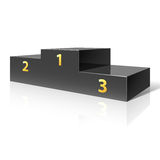 Podium. Vector illustration of a podium for winners Stock Image