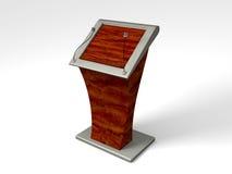 podium 3D hecho con madera y metal Stock de ilustración
