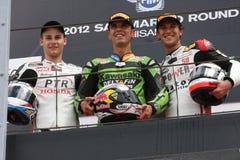 Podium Alex Baldolini Suriano Triumph Daytona Stock Images