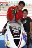 Podium Alex Baldolini Suriano Triumph Daytona royalty free stock images