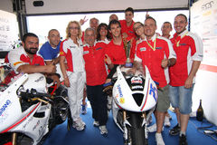 Podium Alex Baldolini Suriano Triumph Daytona Stock Image