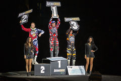 Podium arenacross winners Stock Photo