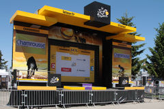 Podium av Tour de France Arkivfoton