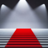 Podium. With bright studio lights on clean background Royalty Free Stock Photos