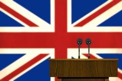 Podium and British flag Stock Images
